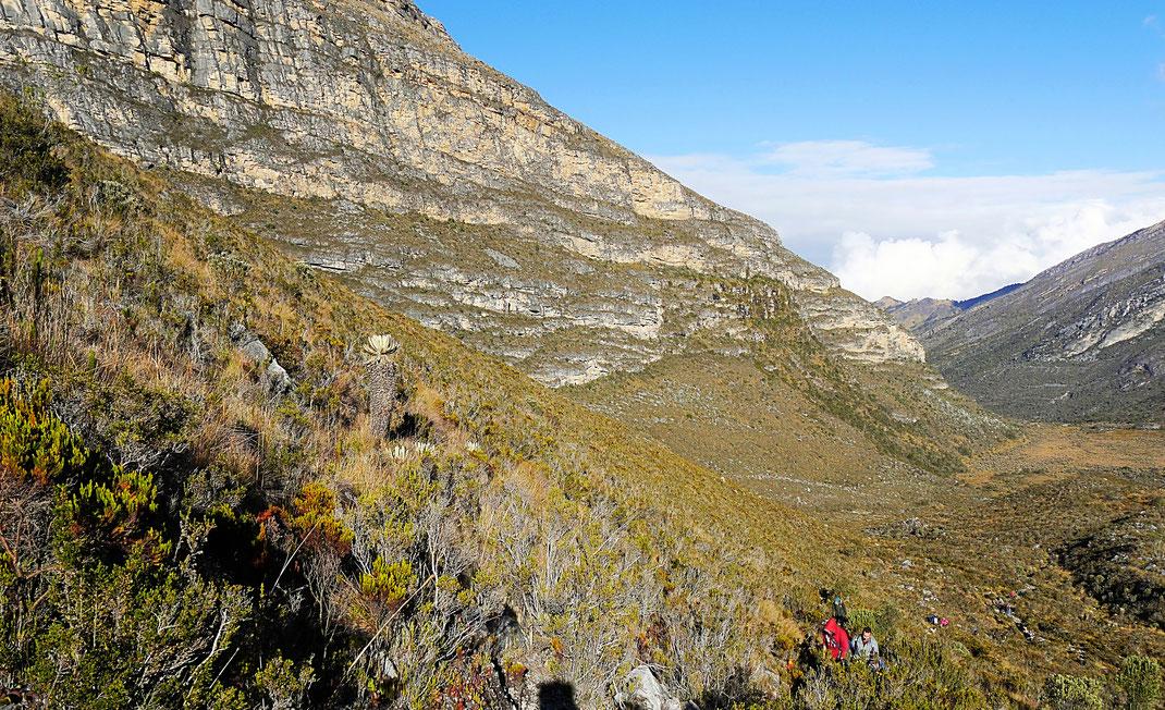 Es wird steiler... Parque Nacional del Cocuy, Kolumbien (Foto Jörg Schwarz)