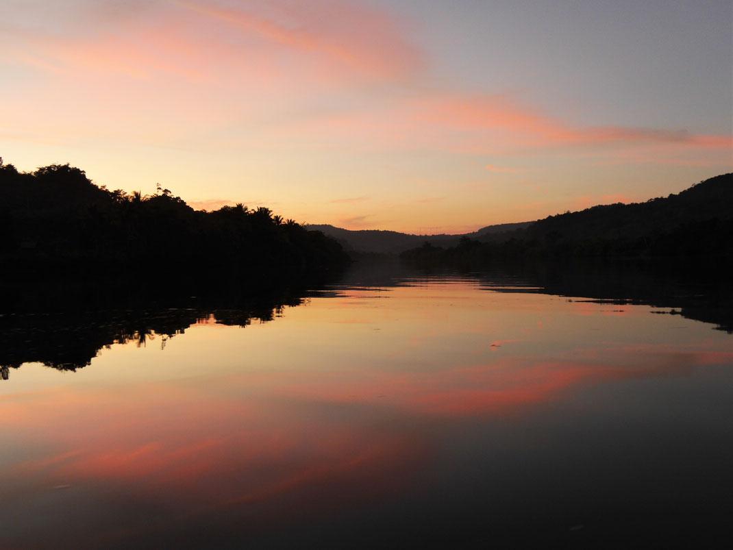 Das ultimative Abschlussbild eines perfekten Tagestrips am Preat-Fluss, Kambodscha (Foto Jörg Schwarz)