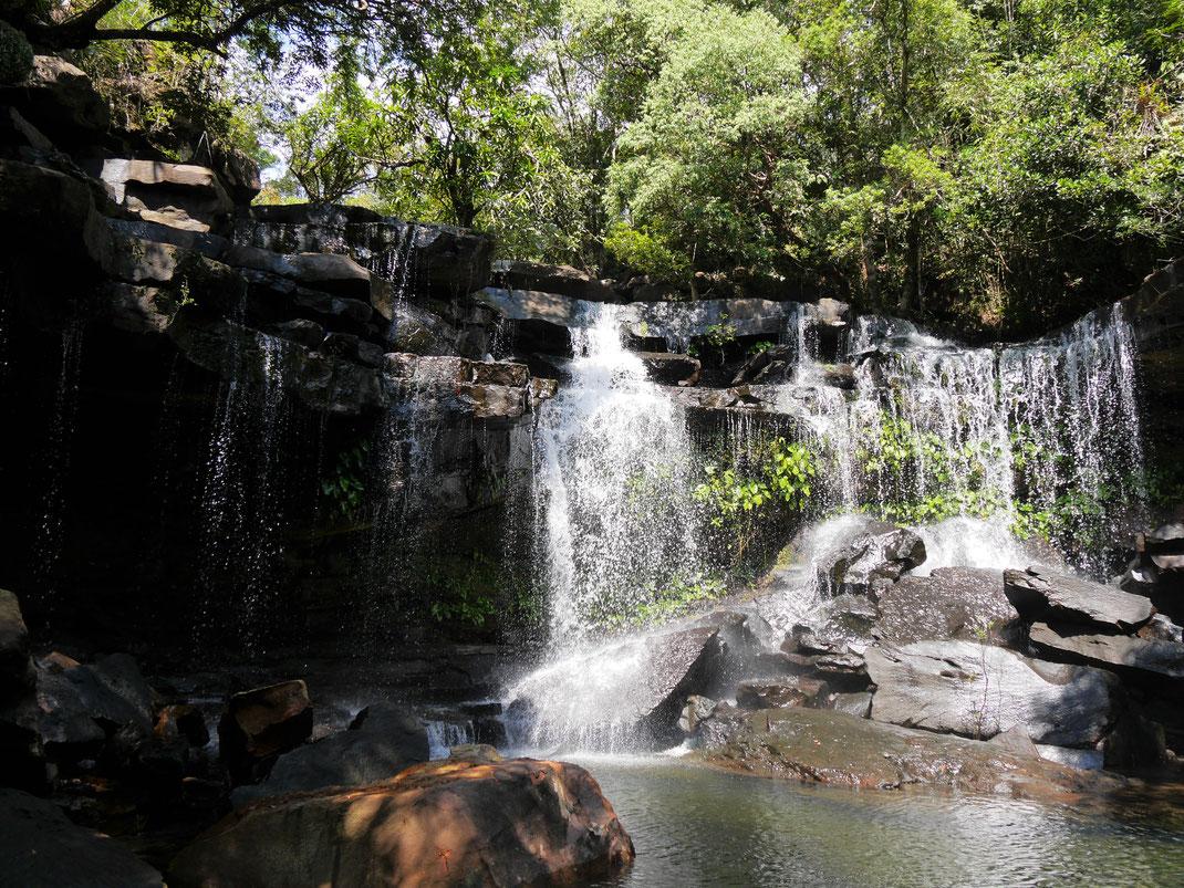 Der finale Wasserfall und sein wundervoller Pool! Bei Koh Kong City, Kambodscha (Foto Jörg Schwarz)