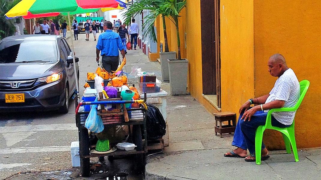 Ein Schläfchen in Ehren... Cartagena, Kolumbien (Foto Jörg Schwarz)