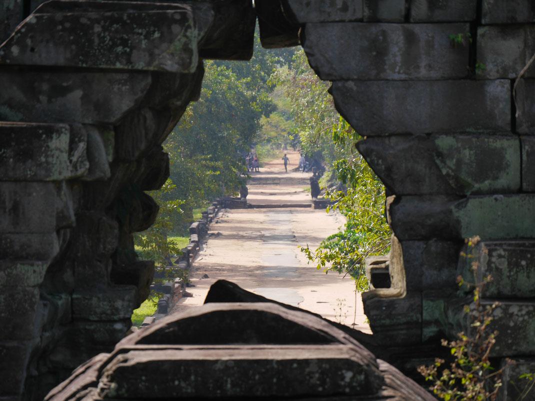 Es ist der Weitblick der hier fasziniert, Ta Keo, Kambodscha (Foto Jörg Schwarz)