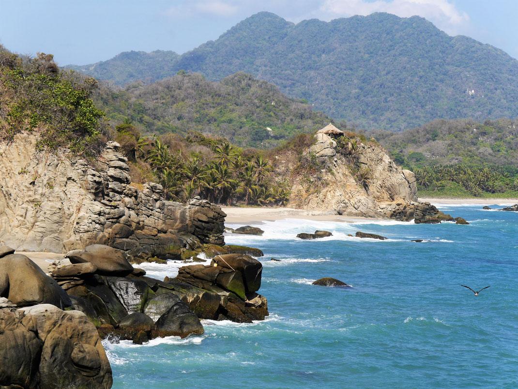 Der Tayrona Nationalpark - ein sagenhaft schöner Küstenstreifen... Tayrona-Nationalpark, Kolumbien (Foto Jörg Schwarz)
