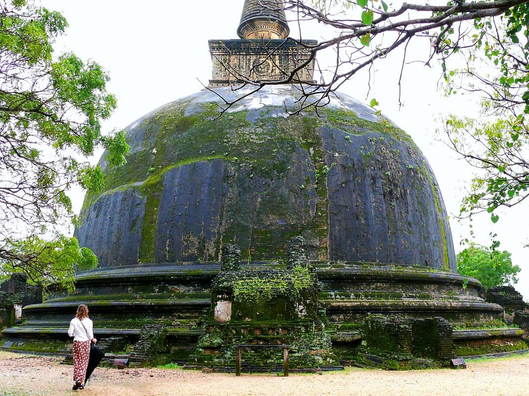Die große - 55m hohe - Ruanveli Dagoba, Polonnaruwa, Sri Lanka (Foto Jörg Schwarz)