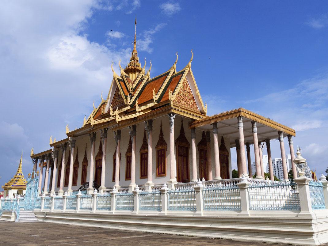 Die berühmte Silberpagode, Phnom Penh, Kambodscha (Foto Jörg Schwarz)