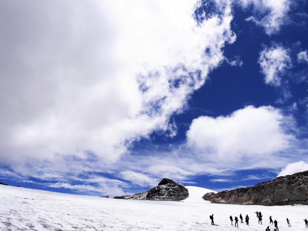 Wenn die Wolken aufreißen, ist das Panorama herausragend... NP Los Nevados, Kolumbien (Foto Jörg Schwarz)