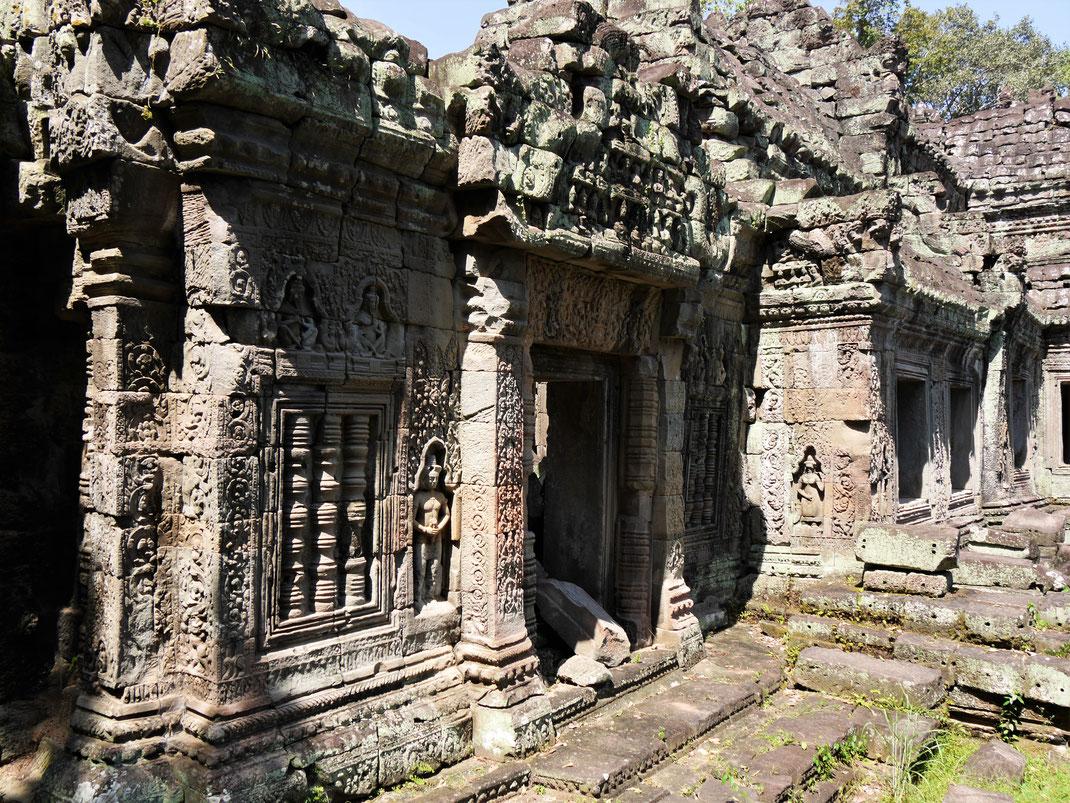 Die Ruinen der Tempel offenbaren wahre Meisterwerke der Steinmetzkunst, Preah Khan, Kambodscha (Foto Jörg Schwarz)