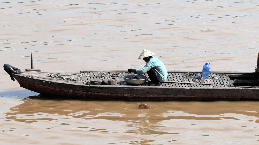 Alles spielt sich auf dem Fluss ab - fast alles! Chau Doc, Vietnam (Foto Jörg Schwarz)