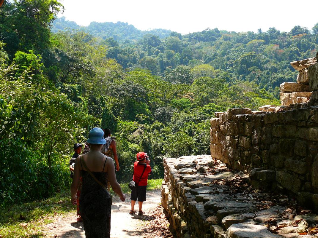 Von den Ruinen der antiken Stadt sind gerade einmal 5 % wieder rekonstruiert oder freigelegt - der grüne Dschungel ist folglich überall (Foto Jörrg Schwarz)