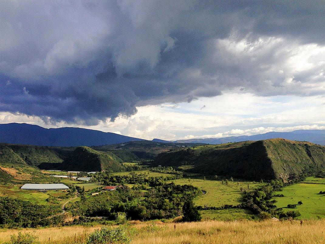 Der Blick ins Valle del Viento - dem Tal des Windes, Santa Sofia, Kolumbien (Foto Jörg Schwarz)