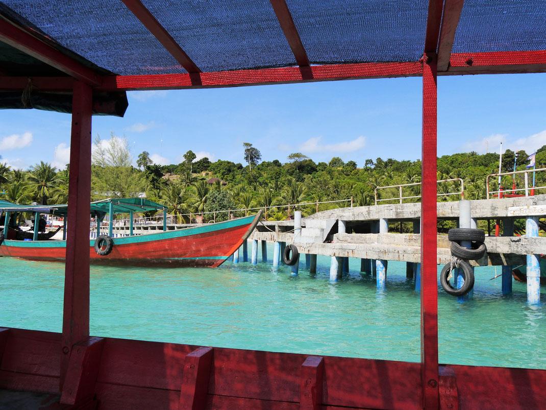 Blick aus unserem Ausflugsboot, Koh Rong, Kambodscha (Foto Jörg Schwarz)