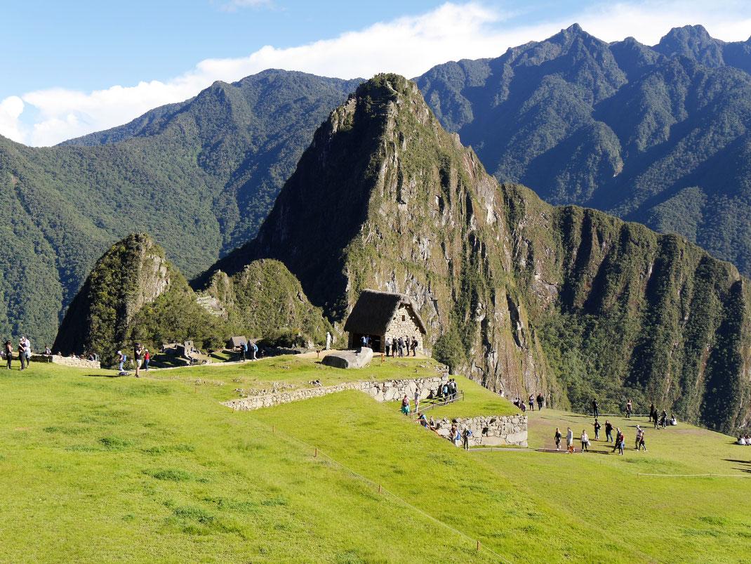 Die 'Hütte des Verwalters', Machu Picchu, Peru (Foto Jörg Schwarz)