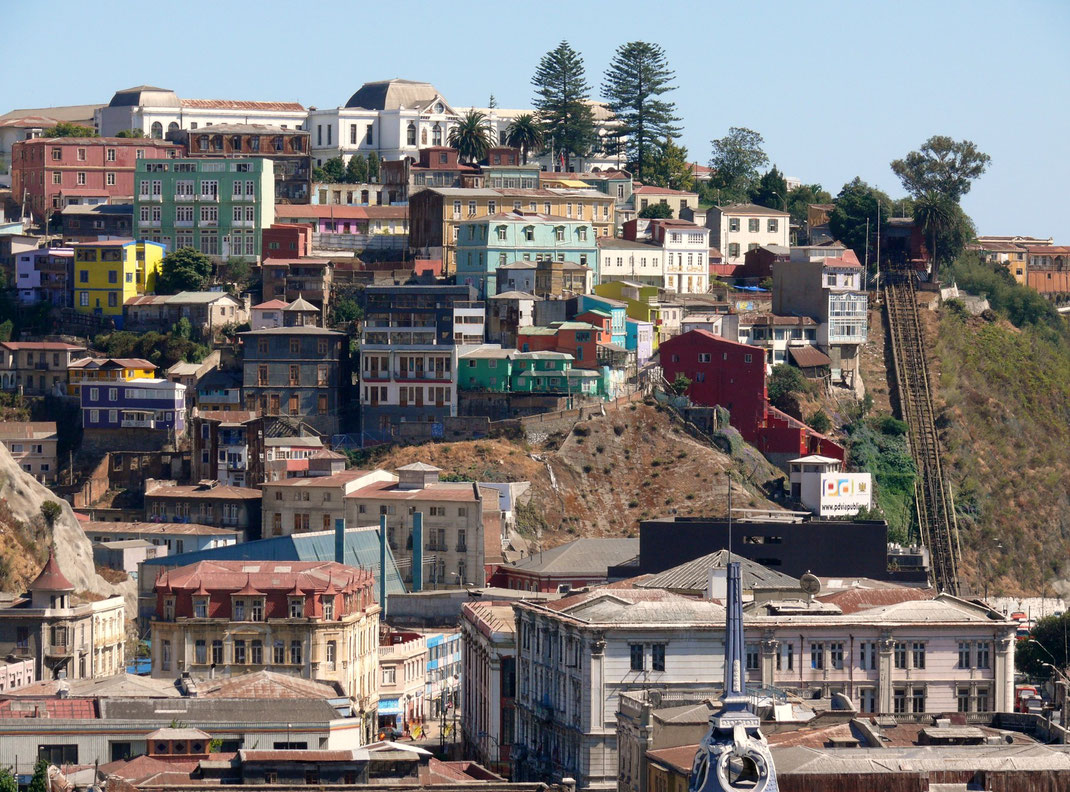 Zu den ältesten Teilen der Stadt gehört der Cerro Artillería (Foto Jörg Schwarz)