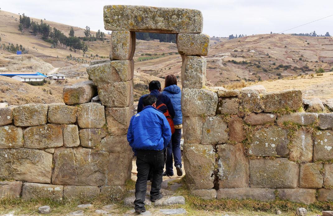 Letzte Reste eines Tempels der Inka, Uchkus Incañan, Peru (Foto Jörg Schwarz)