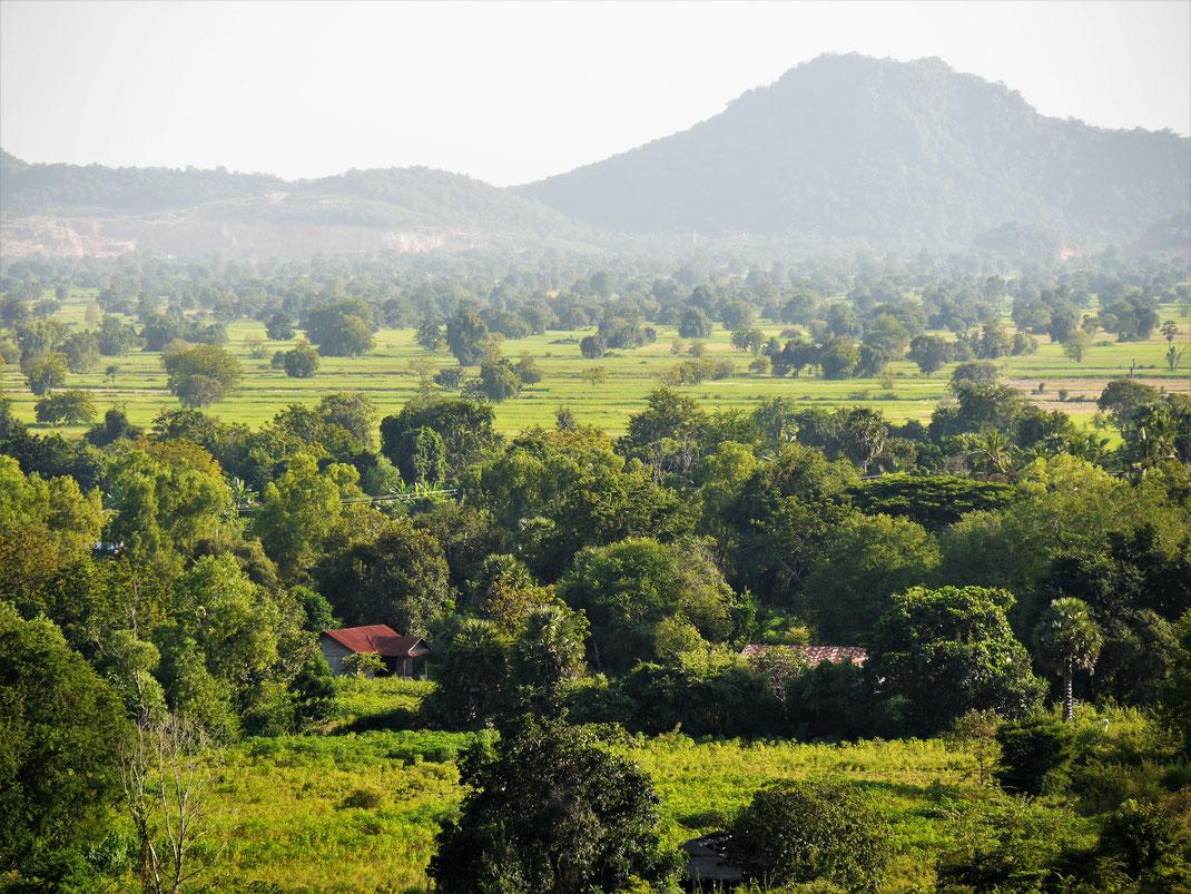 Die Landschaft bei Battambang, Kambodscha (Foto Jörg Schwarz)