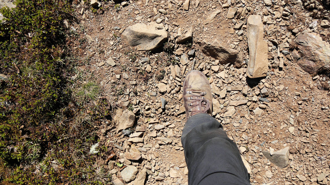Ein Schritt nach dem anderen, alles andere macht keinen Sinn... Sorata, Bolivien (Foto Jörg Schwarz)