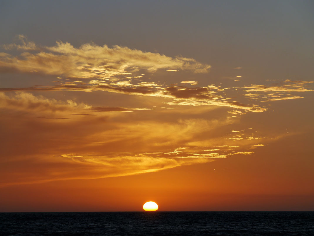 Wundervolle Sonnenuntergänge an den Küsten Guajiras sind Programm... Bei Punta Gallinas, Kolumbien (Foto Jörg Schwarz)
