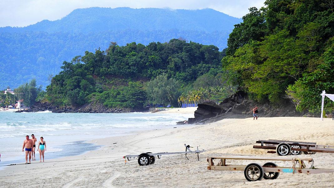 Natürlich ist der Tengah Beach im Grunde noch immer ein klasse Strand! Langkawi, Malaysia (Foto Jörg Schwarz)