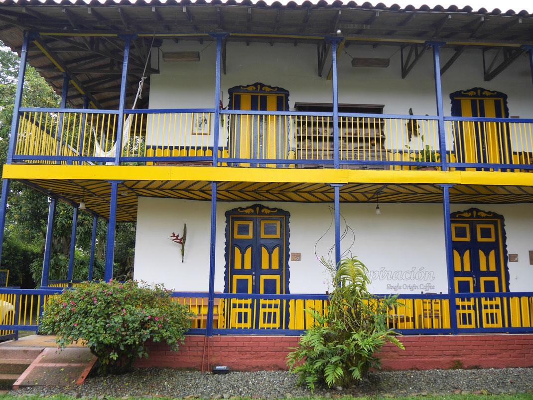 Das alte Herrenhaus der Kaffeefarm - heute Hotel, bei Armenia, Kolumbien (Foto Jörg Schwarz)