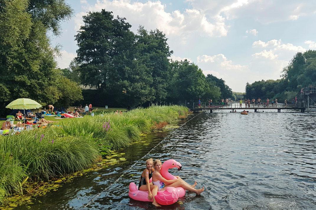 Foto aus der Flussbad-Saison 2020