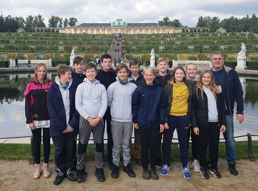 Unsere U14 auf einem Ausflug in Potsdam 2020