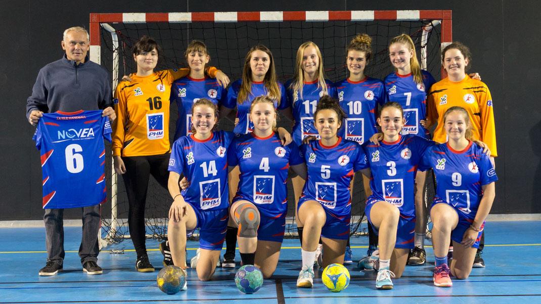 l'équipe féminine des moins de 18 ans (Championnat de France)
