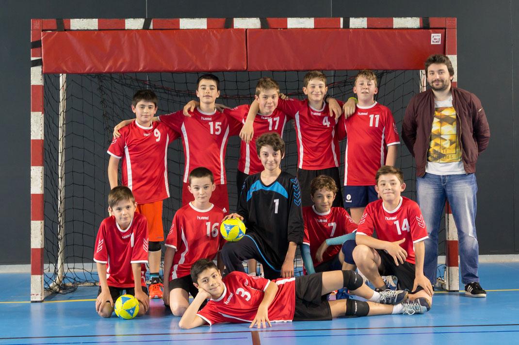 Equipe des -13 ans garçons pour la saison 2017-2018