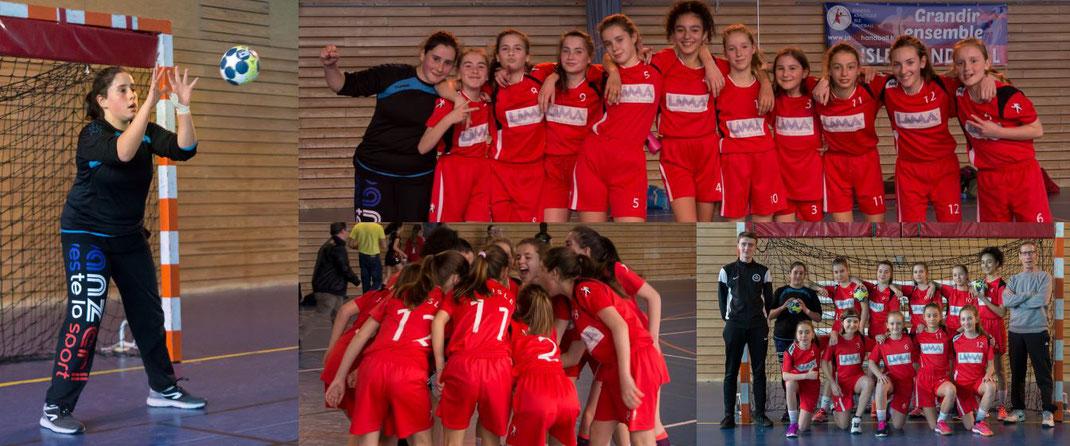 L'équipe des -13 ans féminines coachée par Jean-Luc Cluzaud