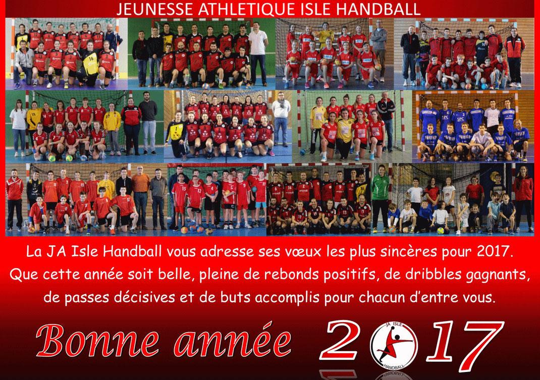 bonne année 2017 handball JA Isle