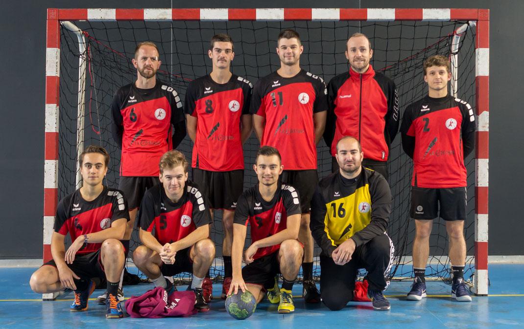l'équipe Seniors prérégionale de la JA Isle Handball