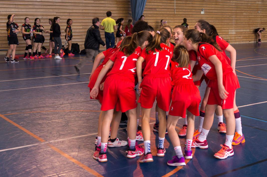 "Les ""lionnes"" de la JA Isle Handball"