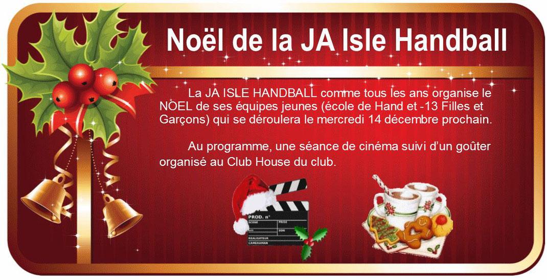 Noël de la JA Isle Handball : cinéma puis goûter