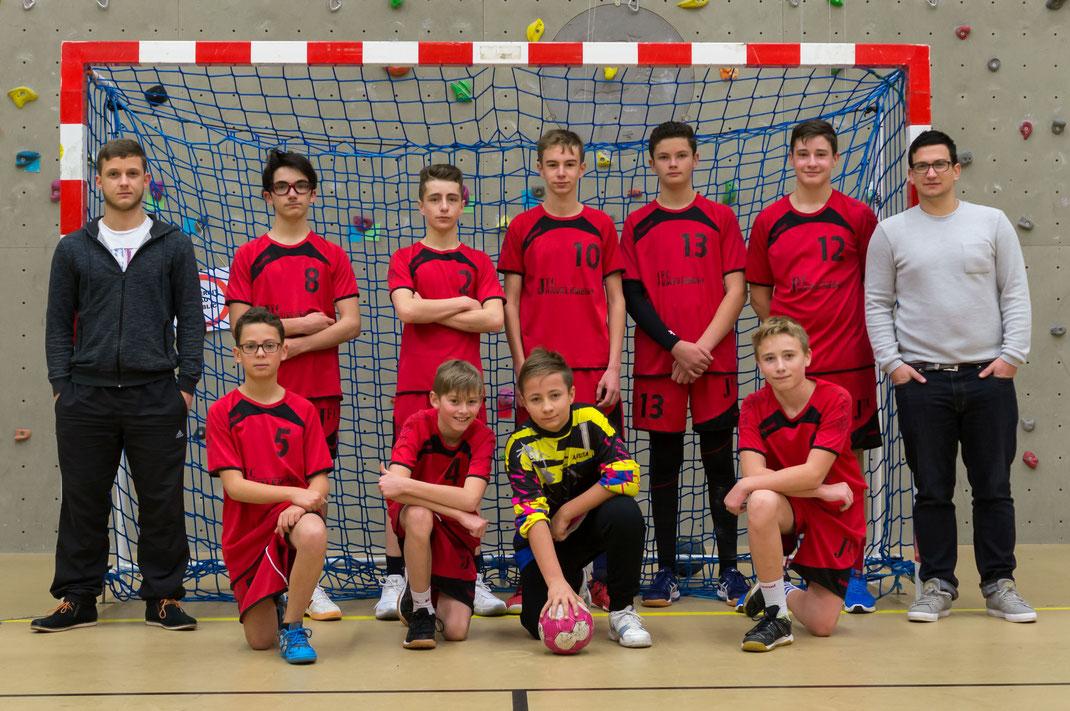 l'équipe masculine des moins de quinze ans - JA Isle Handball