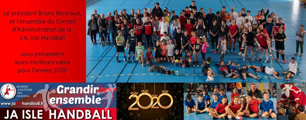 Bonne Année 2020 de la part de la JA Isle Handball