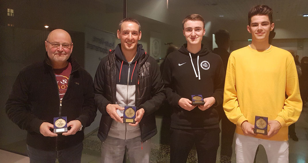 Les quatre lauréats de la JA Isle Handball