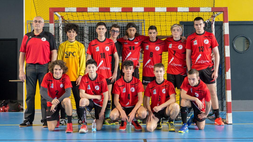Equipe des -18 ans garçons pour la saison 2017-2018