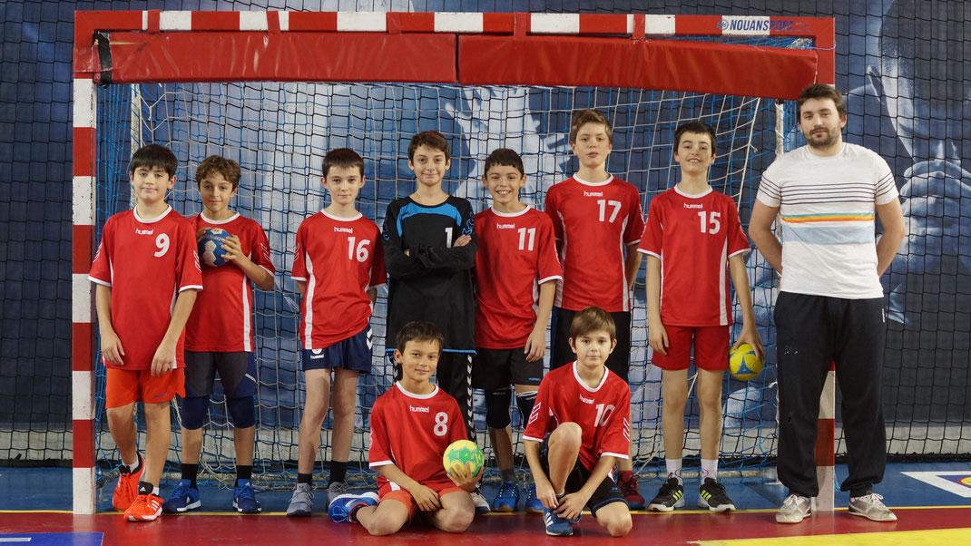 l'équipe masculine des moins de treize ans