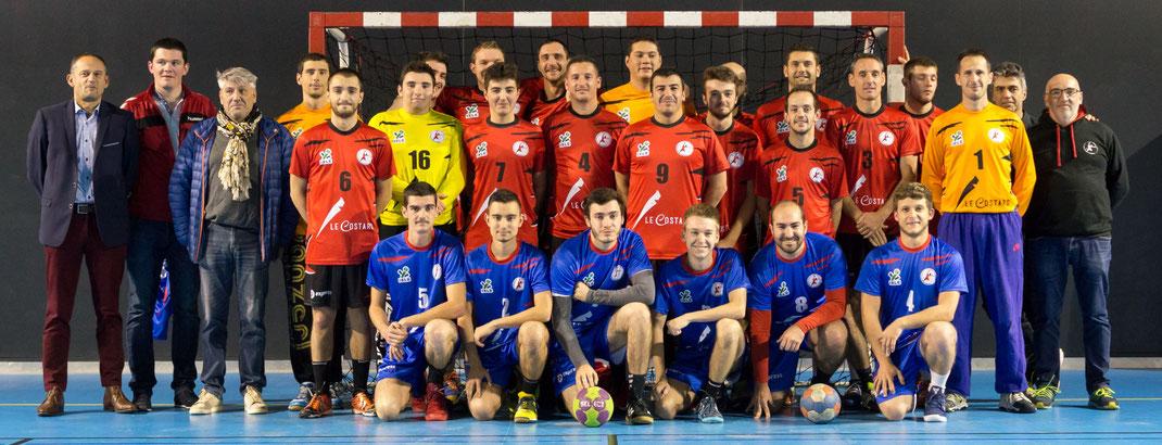 Les seniors masculins de la JA Isle Handball pour la saison 2017-2018