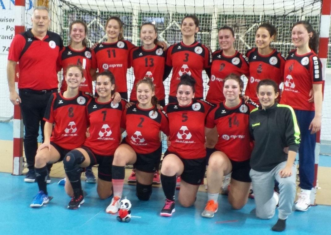 L'équipe des seniors filles pour les 32ème de finale