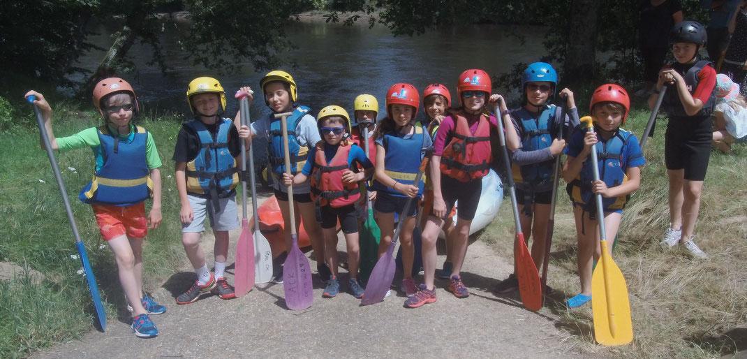 Sortie kayak pour les -11 ans saison 2017-2018