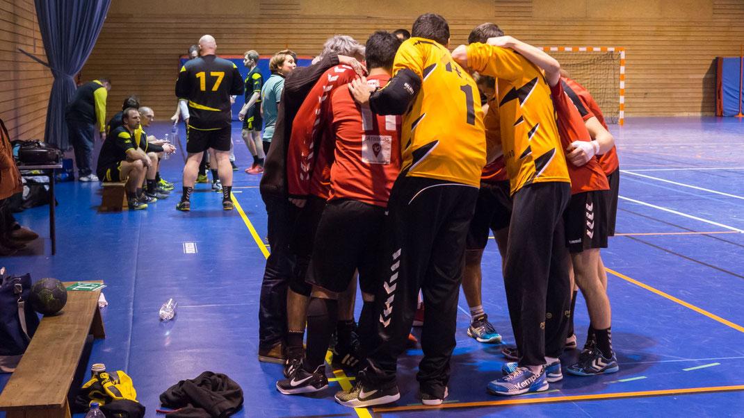 L'équipe masculine senior Excellence se motive