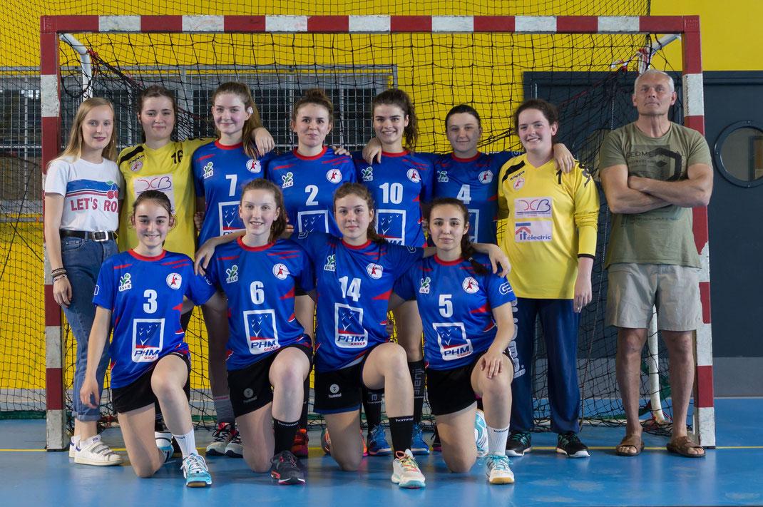 Equipe des -18 ans filles pour la saison 2017-2018 (championnat de France)