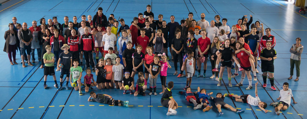 photo de groupe de la JA Isle Handball 2019