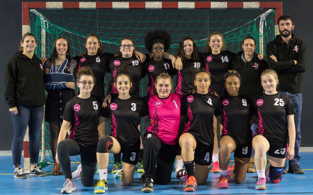 L'équipe de l'entente Paloma 87 saison 2018-2019