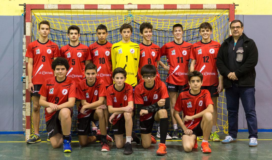2017-2018 équipe 2 masculine des moins de 18 ans