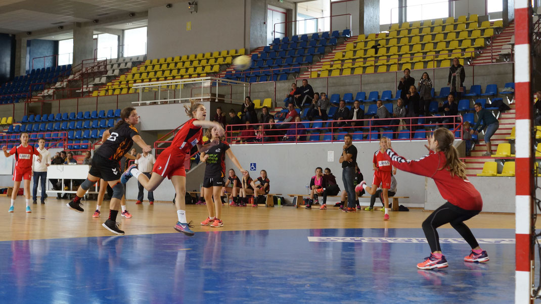 le but de la dernière seconde qui permet la victoire de l'équipe de la JA Isle Handball