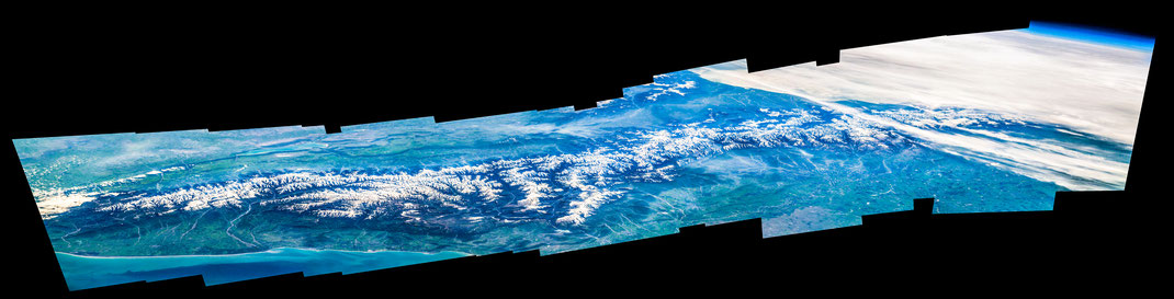 Caucasian Mountains from the ISS