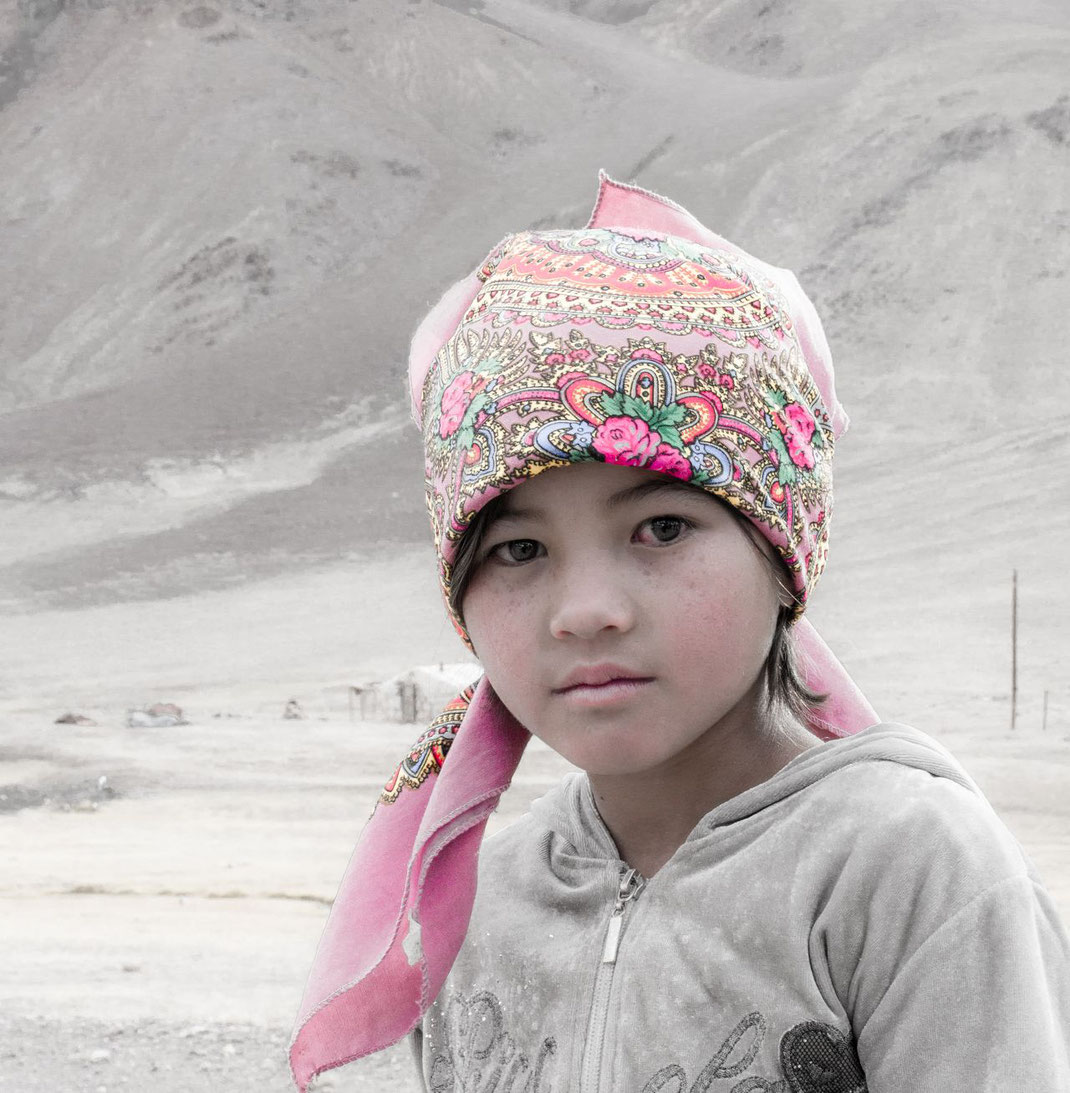 Girl near the Ak Baital Pass, Tajikistan