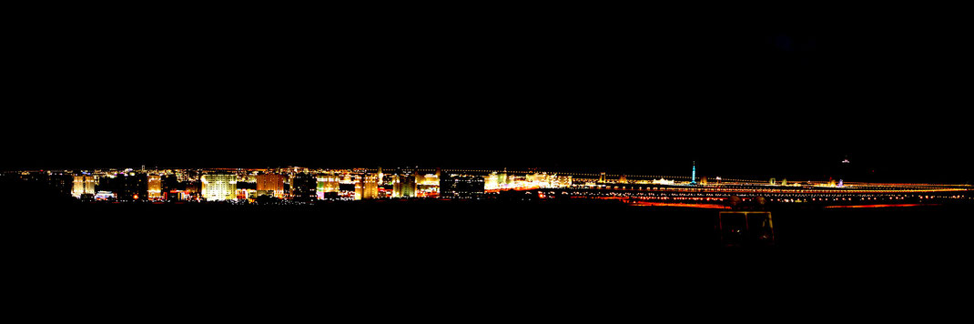 Ashgabat, night panorama