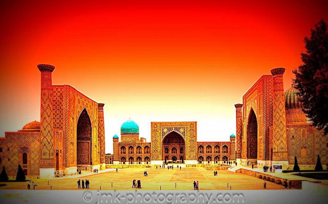 Samarkand, Uzbekistan. The Registan