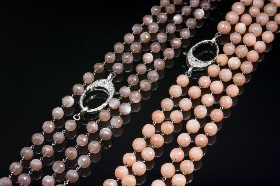 Rosenkranzketten mit Diamantschließen